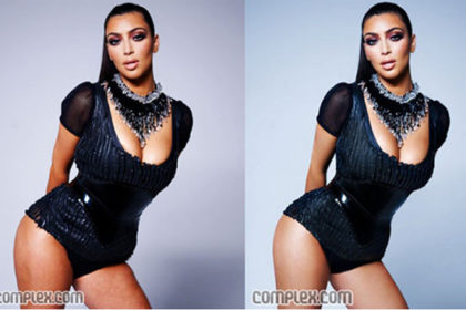 Complex.com accidentally released the un-edited photo on their website on the left, and then quickly replaced it when the airbrushed version on the right. I would love to look like the